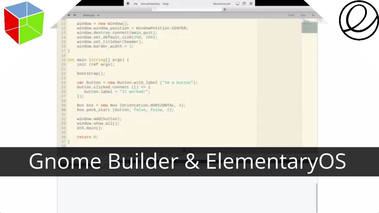 Gnome Builder For Vala & GTK Apps on ElementaryOS Linux