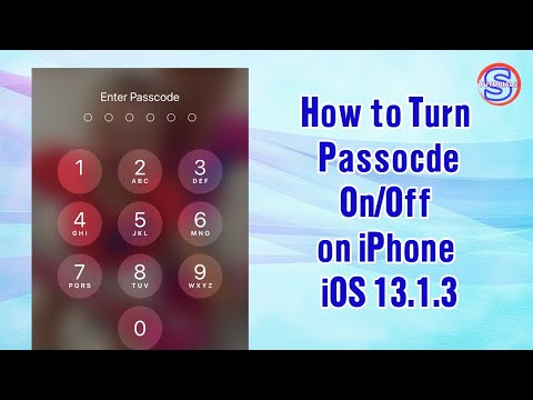 How to Turn Passcode On/Off for iPhone iOS 13.1.3​ | Simple Tutorials