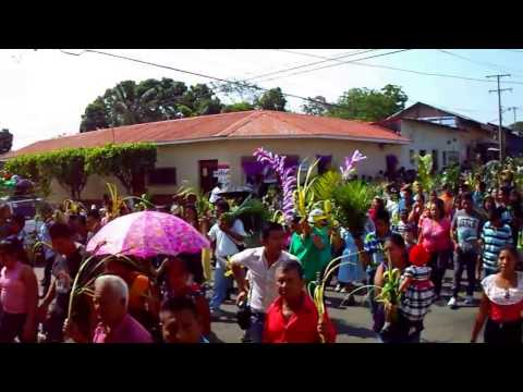 Domingo de ramos en Nahuizalco 2017, procesión de las palmas