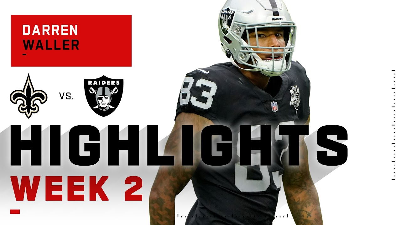 Darren Waller SMASHES Saints w/ 103 Receiving YDs | NFL 2020 Highlights