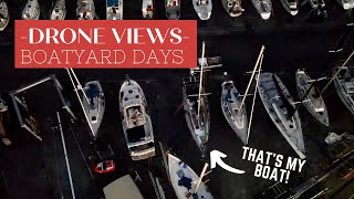 BOATYARD VIEWS - First footage with our new DJI Mavic Air 2!