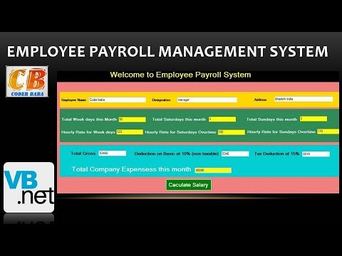 Payroll Management System Project In Visual Studio