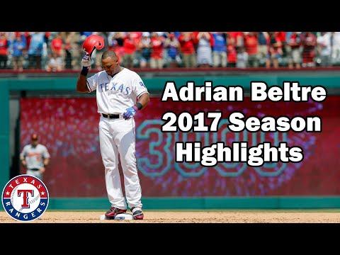 Texas Rangers: Adrian Beltre 2017 Highlights No Music