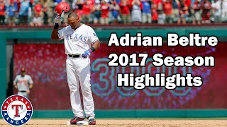 Texas Rangers: Adrian Beltre 2017 Highlights [No Music]