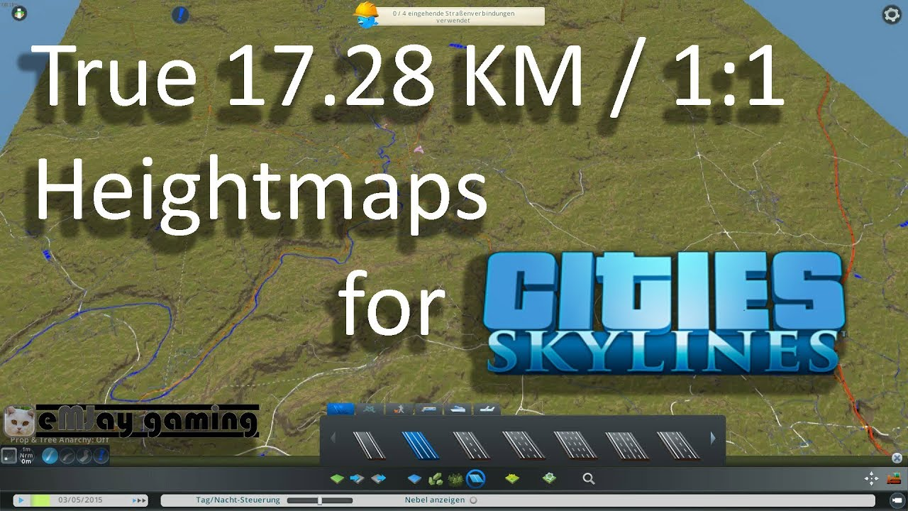 Real 17 28km Heightmap for Cities Skylines from terrain party