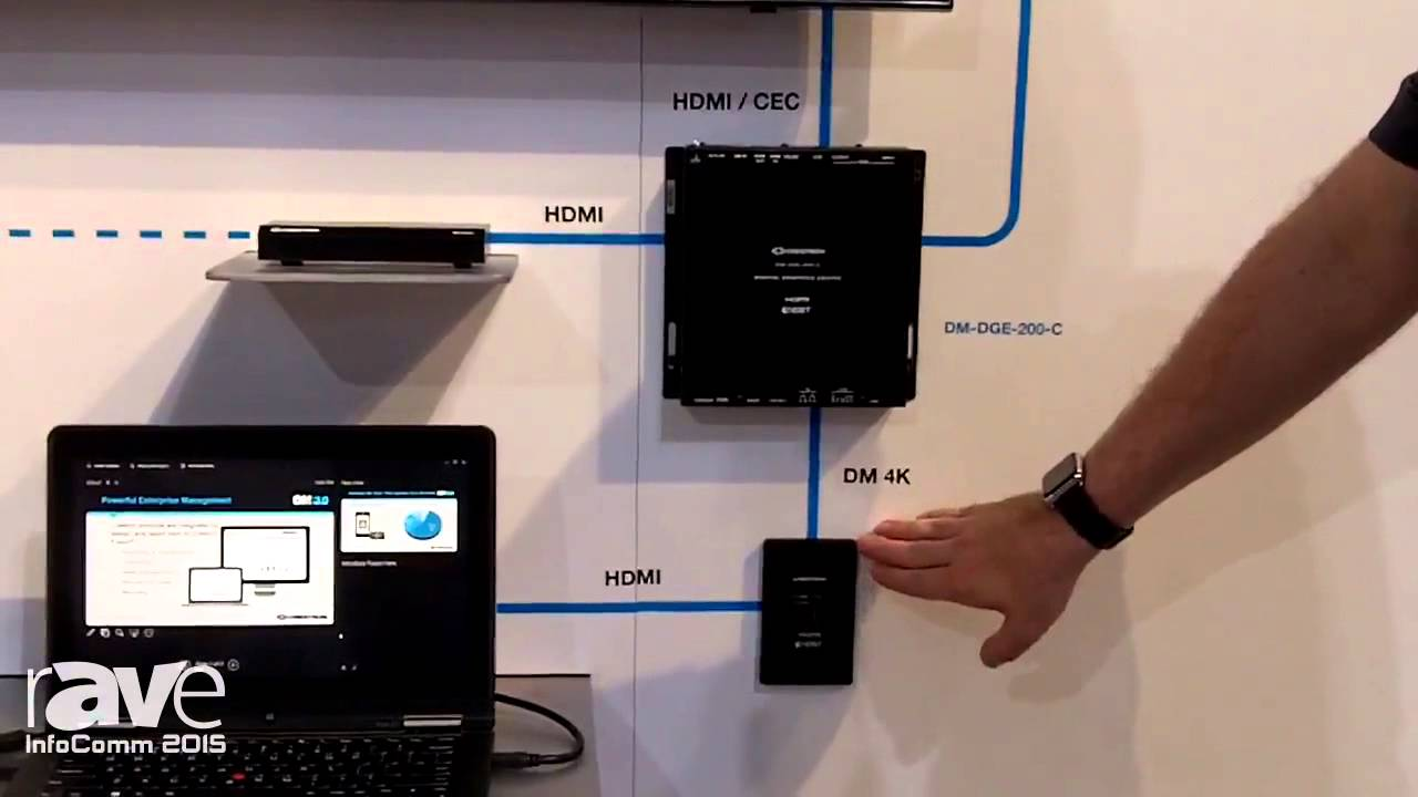Infocomm 2015 Crestron Talks About Dge Series Products