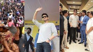 Mahesh Babu Grand Entry @Chennai Silks Kukatpally Fans Craze   Film...