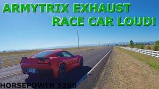 Corvette z06 crazy loud armytrix exhaust!!!