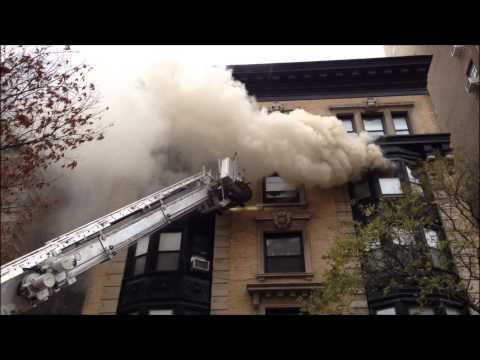 """FDNY RESPONSE & ON SCENE OF A """"ALL HANDS"""" FIRE ON WEST 82ND STREET ON THE WEST SIDE OF MANHATTAN."""