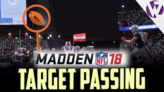 Madden 18 target passing feature details!! throw to a spot instead of at a player!! madden 18 news