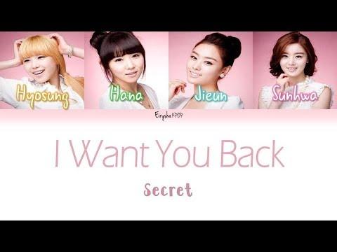 i want you back secret