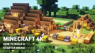 A real architect's buiĮding houses in Minecraft tutorial / How to build STARTER House #102