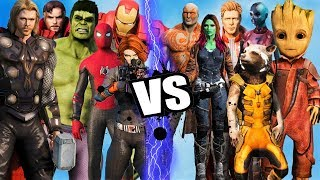 THE AVENGERS vs GUARDIANS OF THE GALAXY - Epic Battle