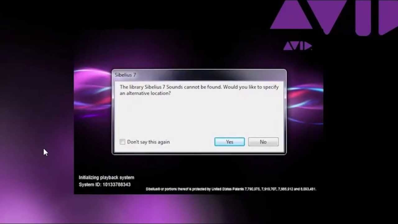 Avid Support: Avid Sibelius 7 Library Can't be Found