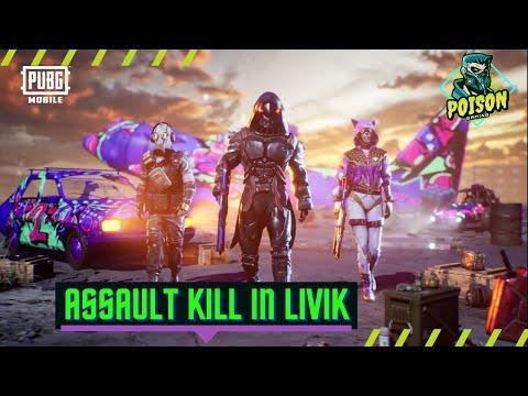 ASSAULT KILL IN LIVIK || PUBGMOBILE LOVER || POISON GAMING