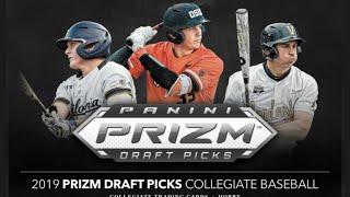 2019 Panini Prizm Draft Picks Baseball 8 box 1/2 case Break #1A