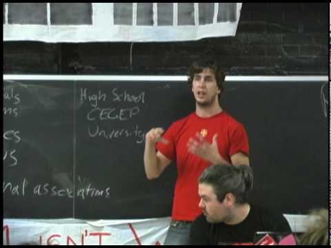 Québec Student Unions Part 1/8 - For Student Power