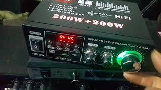 Amply mini 12v-220v mã AV 153BT có bluetooth giá 460k lh 0964.867866