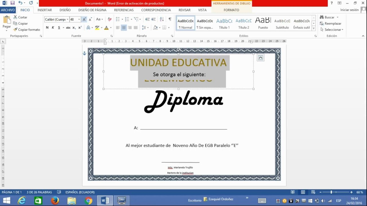 Como Hacer Un Diploma