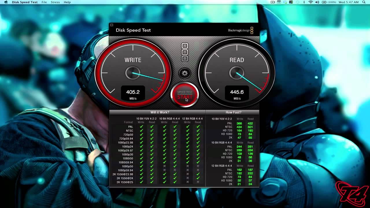 2012 Retina Macbook Pro Disk Speed Test Youtube