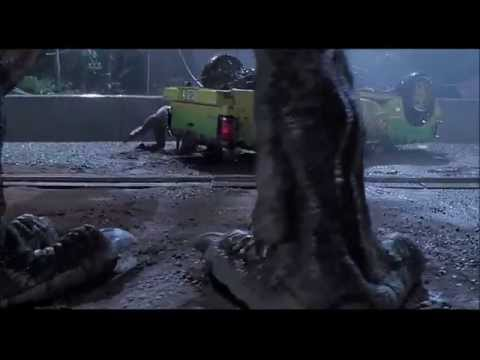 Jurassic Park 1993 : Over the LedgeTRex Attack.