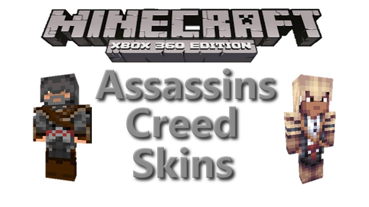 Minecraft Xbox Assassins Creed Skins Skin Pack Info YouTube - Assassin skins fur minecraft