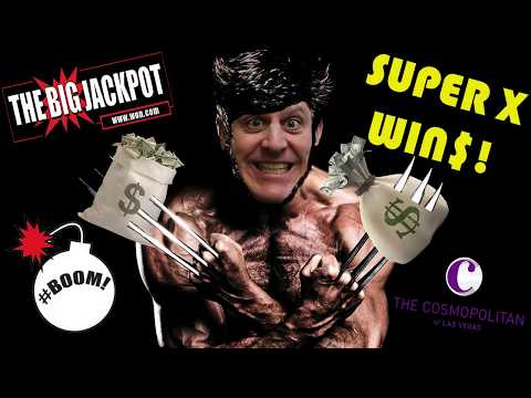 TWO JackpotsOn The Super X Slot Machine | $125 Bets @ The Cosmopolitan 🎰 | The Big Jackpot