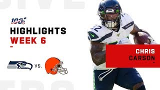 Chris Carson's Strong Game w/ 159 Total Yards & 1 TD | 2019 NFL Highlights