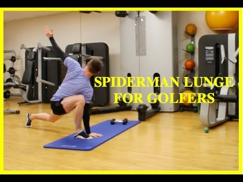 Flexibility for Golfers: Spiderman Lunge Exercise