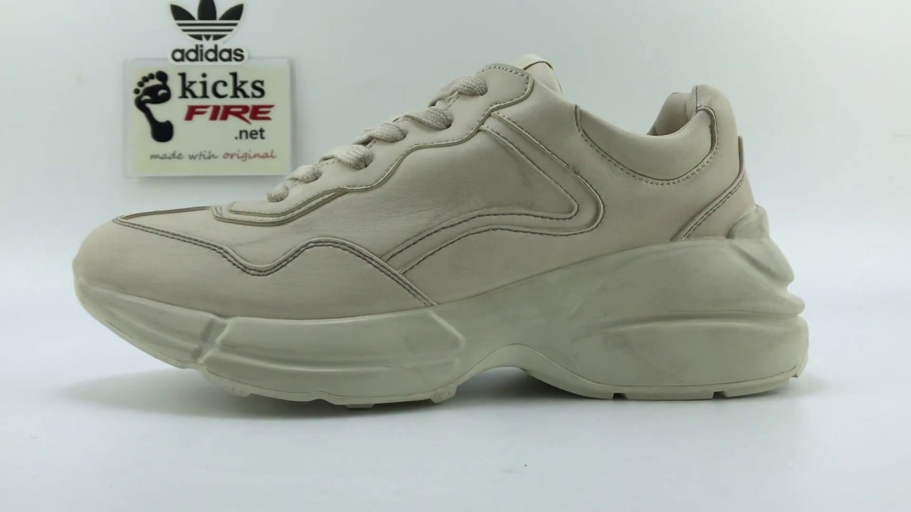 d85e067fe60 Gucci Rhyton leather sneaker 40-45 From Kicksfire.net - YouTube