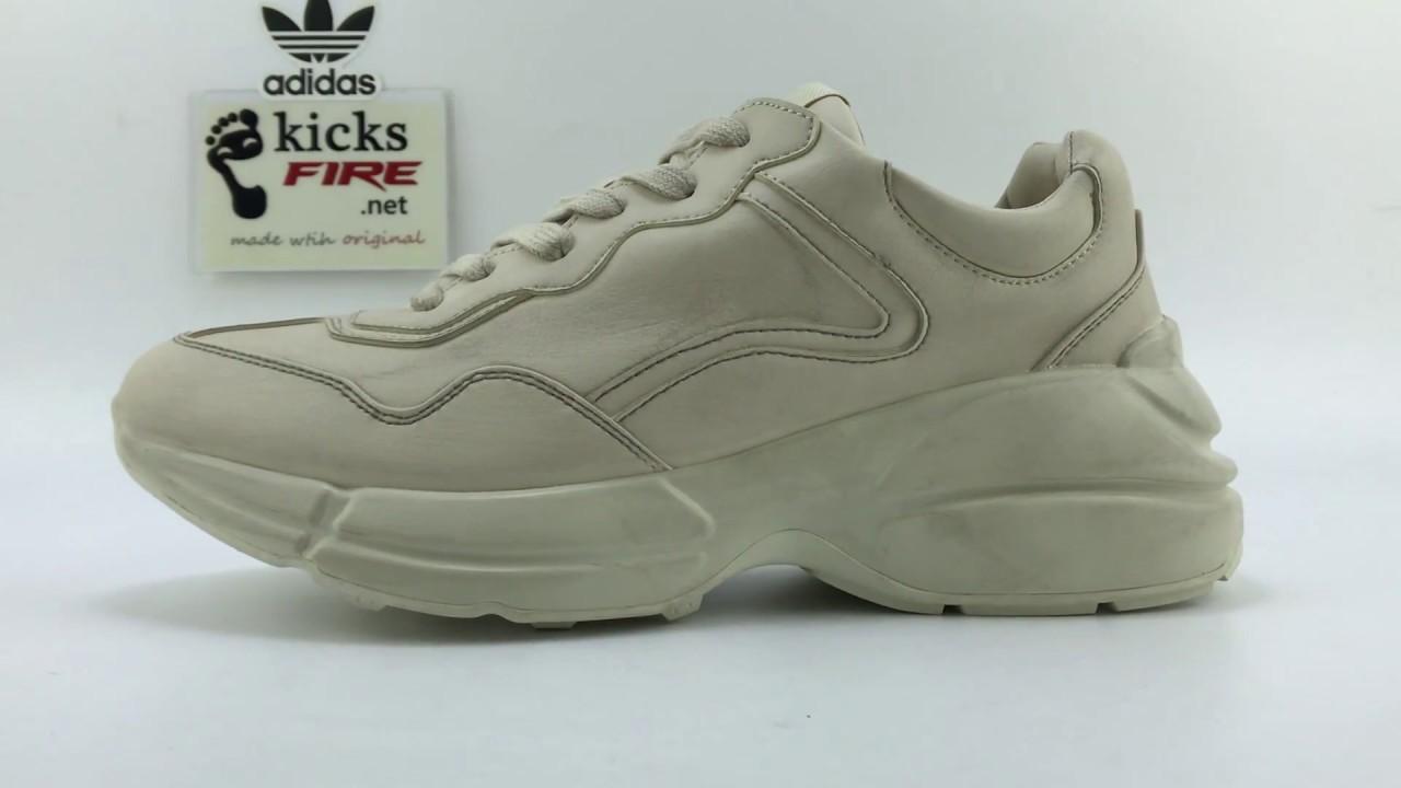 35b13535405 Gucci Rhyton leather sneaker 40-45 From Kicksfire.net - YouTube