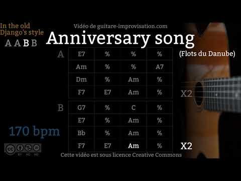 Anniversary Song (Flots du Danube) (170 bpm) - Gypsy jazz Backing track / Jazz manouche