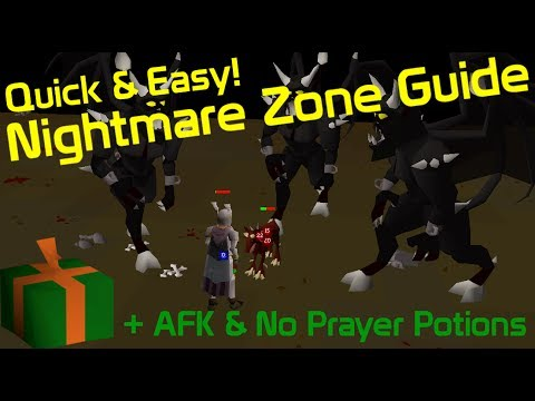 How To AFK Nightmare Zone Without Using Prayer Potions Guide (EASY) - OldSchool RuneScape