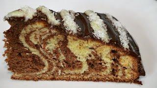 Торт зебра. Рецепт с фото