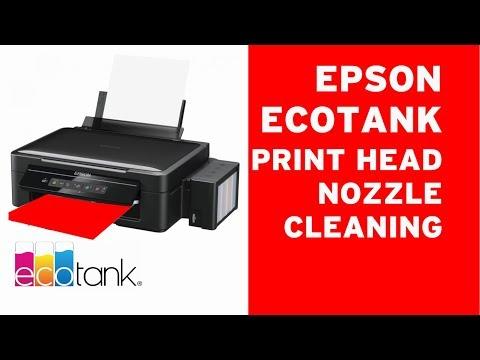 Epson ECOTANK print head cleaning clogged nozzles