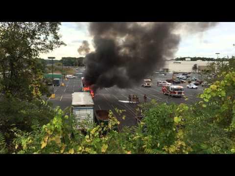 Truck Fire at Crossgates Mall