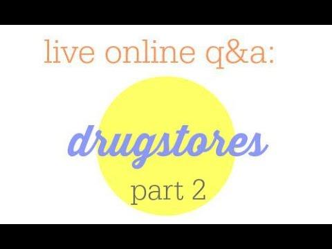 Drugstore Shopping Part 2 + Live Q&A session