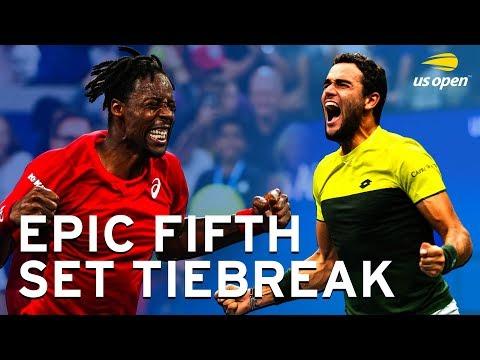 Matteo Berrettini Vs Gael Monfils Epic Fifth Set Tiebreak | US Open 2019