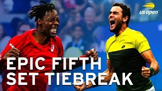 Matteo Berrettini vs Gael Monfils Epic Fifth Set Tiebreak | US Open 2019