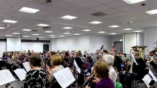 Massed Band Rehersal for Chariety Concert
