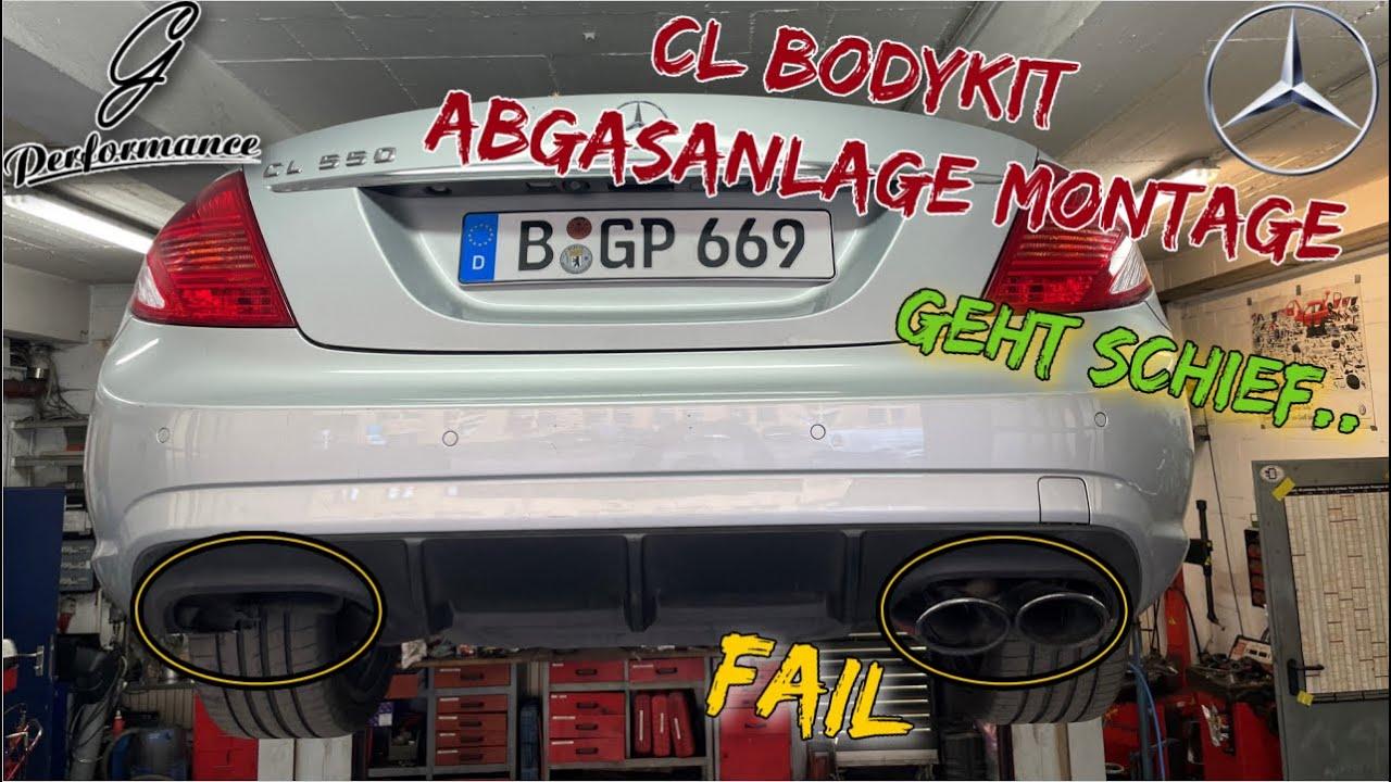 Bodykit + Abgasanlage Fail am Mercedes CL 500 aus Japan | Teil 1| G Performance