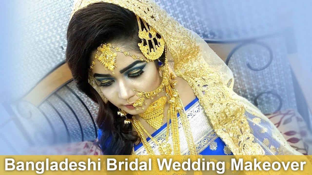 bangladeshi bridal wedding makeover - after makeup shot 1 - youtube