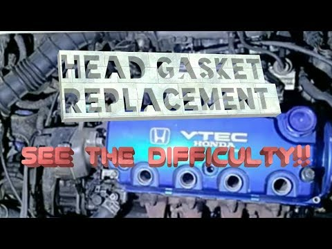 Head Gasket Replacement (Reality/Details) -Honda Civic EG8