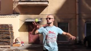 #19. Тыльная сторона руки, каскад (видео уроки по жонглированию от ПГ)