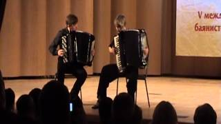 'Una Sinistra' accordion duo. Meditango by A. Piazzolla. А. Пьяцолла Медитанго