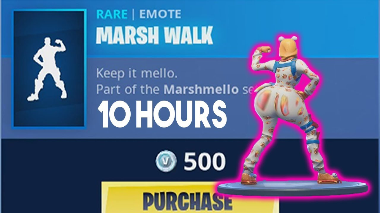 fortnite dance emote - fortnite marshmello dance 10 hours