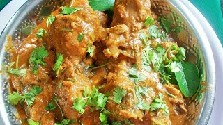 Chicken Gravy ( In Traditional Method ) / Indian - Spiced Chicken Gravy