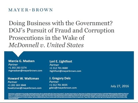 Doing Business with the Government? DOJ's Pursuit of Fraud and Corruption Prosecutions