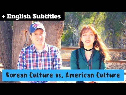 Korean vs. American Culture Differences   한국문화와 미국문화의 차이