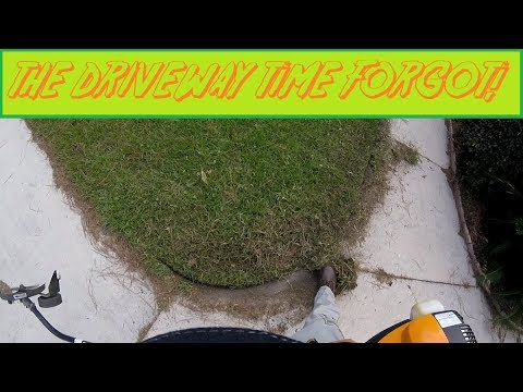 Long, Overgrown Grass On Driveway & Walkway Gets A Proper Edging (Real Time, Raw Audio)